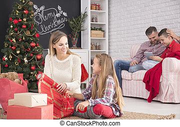 家庭, 準備, 為, 聖誕節