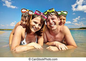 家庭, ......的, 潛水員