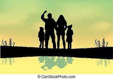 家庭, 黑色半面畫像
