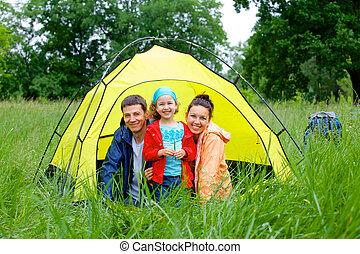 家族のキャンプ