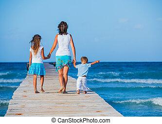 家族の歩くこと, 木製である, 突堤