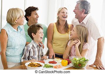 家族の 食事, 準備, 一緒に
