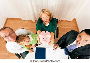 家族, ∥で∥, コンサルタント, -, 金融, そして, 保険