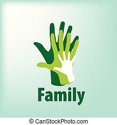 家族, アイコン, 中に, ∥, 形態, の, hands., ベクトル, イラスト