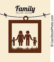 家族, デザイン, ベクトル, illustration.