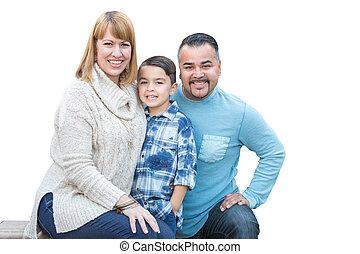 家族, ヒスパニック, レース, 混ぜられた, 白い caucasian