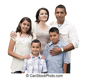 家族, ヒスパニック, 魅力的, 肖像画, 白, 幸せ