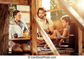 家族, ポジティブ, 他, それぞれ, 話すこと, すてきである