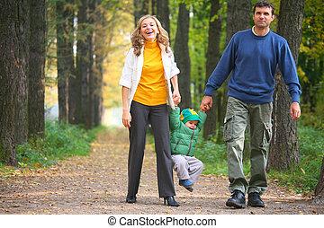 家族, 上に, 歩きなさい
