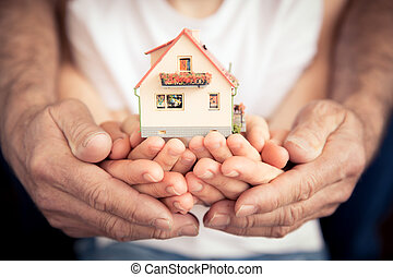 家族, 保有物, 家, 中に, 手