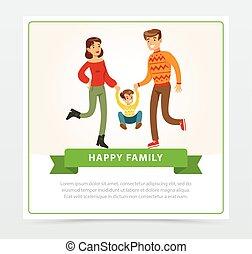 家族, 出費, 若い, 一緒に, タイムカード
