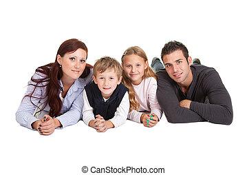 家族, 出費, 若い, 一緒に, 時間, 幸せ