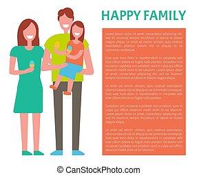 家族, 出費, 親, 一緒に。, 時間, 幸せ, 子供