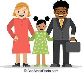家族, 別, 混ぜられた, 競争