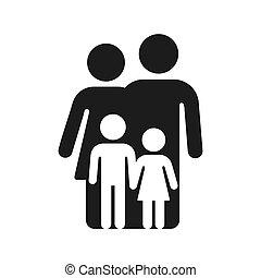 家族, 単純である, シンボル, アイコン
