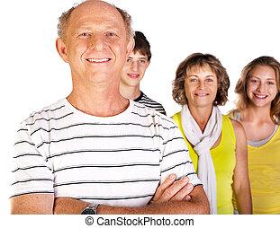 家族, 古い, フォーカス, 人, 幸せ