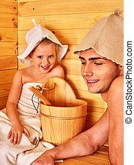 家族, 子と一緒に, 弛緩, ∥において∥, sauna.