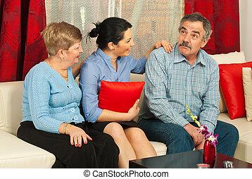 家族, 持つこと, 会話, 家