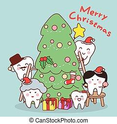 家族, 歯, クリスマス, 祝いなさい, 漫画