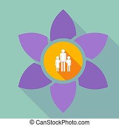 家族, 親, pictogram, 長い間, 単一, loto, 影, マレ