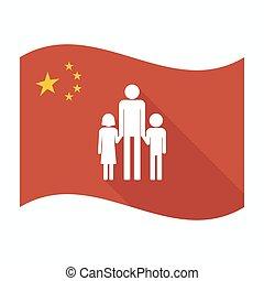 家族, 親, pictogram, 隔離された, 旗, 陶磁器, マレ, 単一