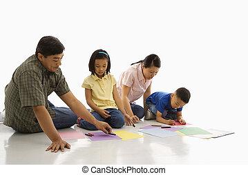 家族, coloring.