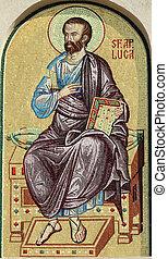 家父長制である, ヨーロッパ, ルーマニア語, 細部, 大聖堂, ルーク, ファサド, bucharest, モザイク,...