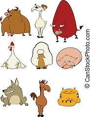 家畜, 漫画