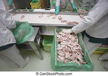 家禽, 処理, 肉, 食品工業