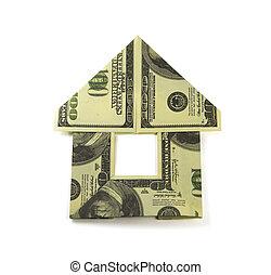 家, お金, origami