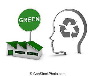 家, エコロジー, 工場