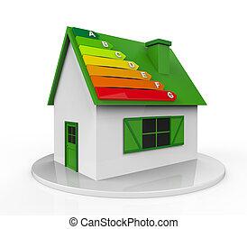 家, エネルギー, レベル, 効率
