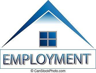 家, オフィス, togive, 雇用, ロゴ