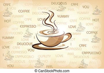 家, コーヒー, デザイン