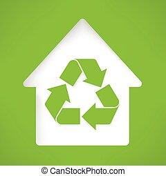 家, シンボル, リサイクル