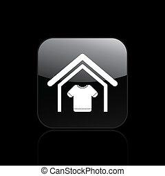 家, シンボル, 現代, イラスト, 単一, ベクトル, 描写, 衣類, アイコン