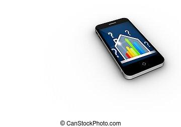 家, スクリーン, 評価, ber, smartphone