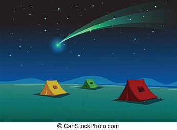 家, テント, 彗星