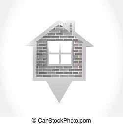 家, デザイン, イラスト, ポインター