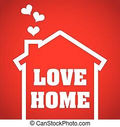 家, デザイン, 愛
