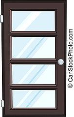 家, ドア, 漫画