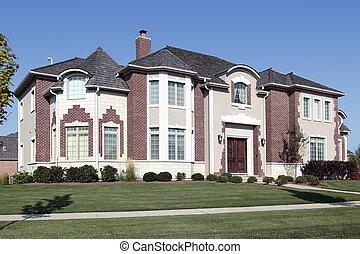 家, ヒマラヤスギ, 贅沢, 屋根, 振動