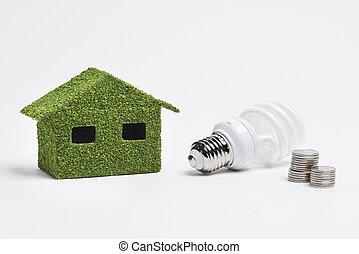 家, プロジェクト, エネルギー, 効率的である, 生態学的