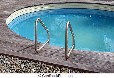 家, プール, 水泳