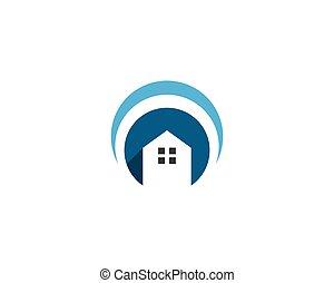 家, ベクトル, ロゴ
