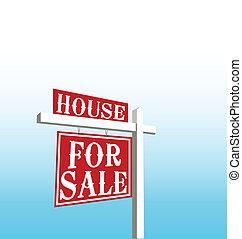家, ベクトル, 販売サイン