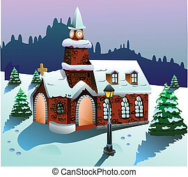 家, ベクトル, 雪