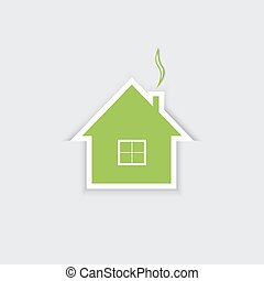 家, ベクトル, illustration., セール