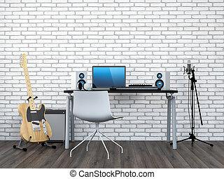家, レコーディングスタジオ