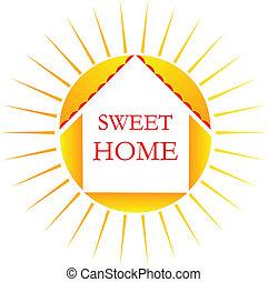 家, ロゴ, 甘い
